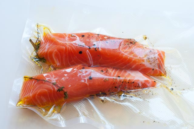fish and shellfish sous vide cuisine